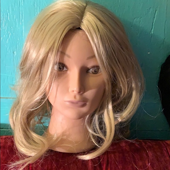 private Accessories - New Blonde Wig  fun style shoulder length